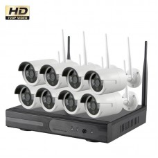 Wireless Beveiligingscamera set met 8 Cameras